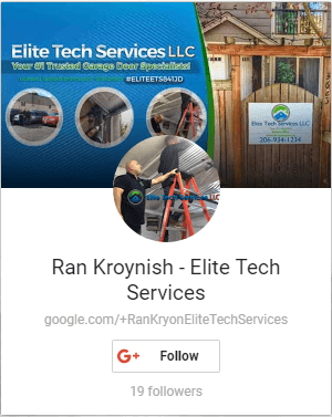 Ran Kroynish Google Plus Elite Garage Door Electric